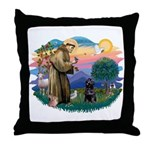 St Francis #2 / PWD (sit) Throw Pillow