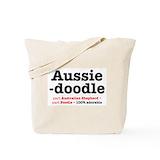 Aussie doodle Canvas Tote Bag