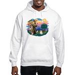 St Francis #2 / Pomeranian (#1) Hooded Sweatshirt