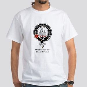 MacDonald Clan Ranald Crest White T-Shirt