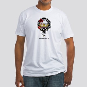 MacDonald Clan Crest Badge Fitted T-Shirt