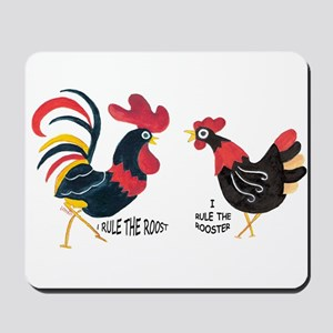 Mousepad - Rooster/Hen