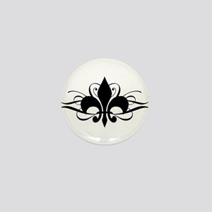 Fleur De Lis with Swirls Mini Button