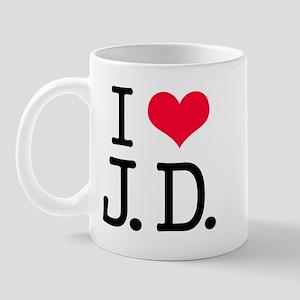 'I Love J.D.' Mug