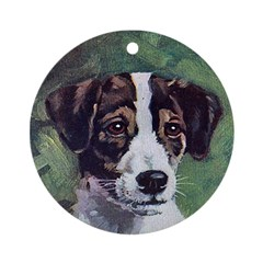 Jack Russell Terrier Art Ornament (Round)
