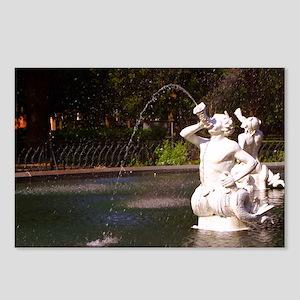 Savannah, Fountain Closeup Postcards (Package of 8