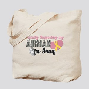 Proudly Supporting my Airman Tote Bag