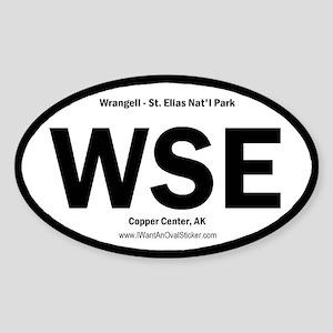 Wrangell-St. Elias Oval Sticker