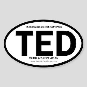 T. Roosevelt Oval Sticker