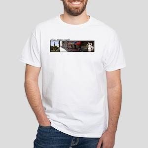 """Savannah"" 3 photo collage White T-Shirt"
