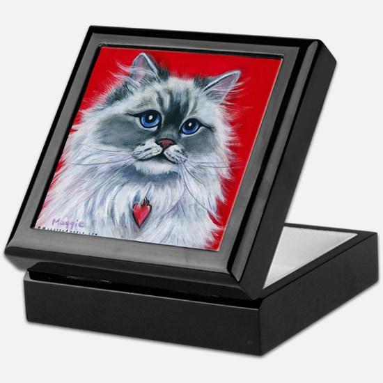 """Ragdoll Cat """"Mia"""" Keepsake Box"""