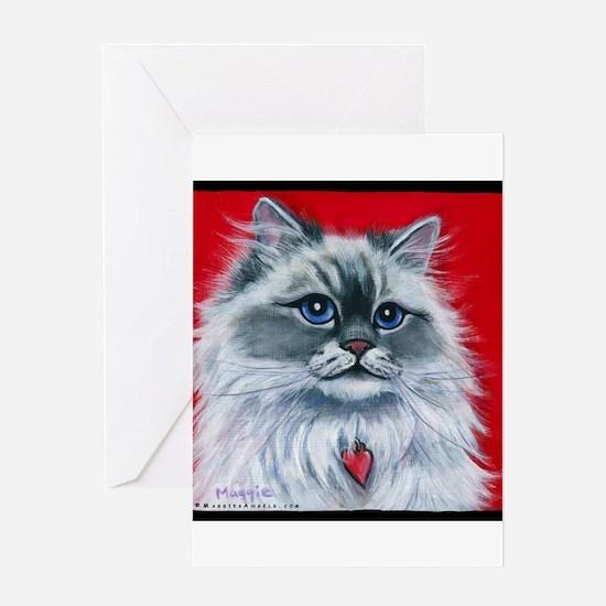"""Ragdoll Cat """"Mia"""" Greeting Card"""