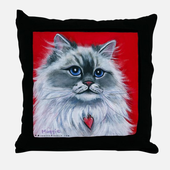 "Ragdoll Cat ""Mia"" Throw Pillow"