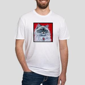 """Ragdoll Cat """"Mia"""" Fitted T-Shirt"""