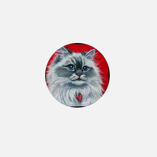 """Ragdoll Cat """"Mia"""" Mini Button"""