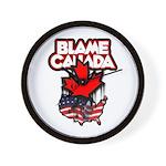 Blame Canada Wall Clock