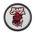 Blame Canada Large Wall Clock