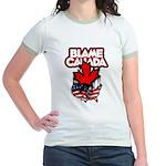 Blame Canada Jr. Ringer T-Shirt