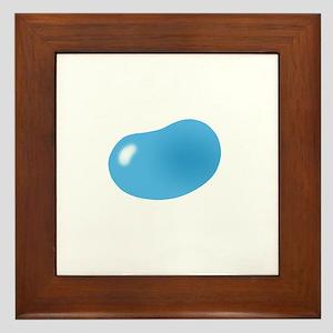 just blue jellybean Framed Tile