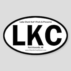 Lake Clark Oval Sticker