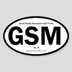 Great Smoky Mountains Oval Sticker