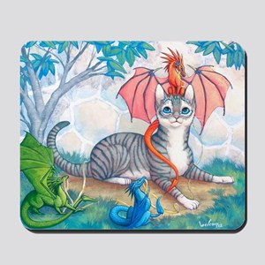 Thomas Cat and the Dragons Mousepad