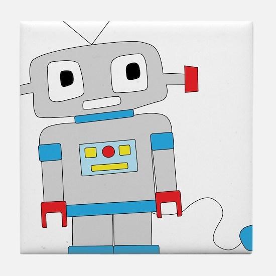 Cute Robot Tile Coaster