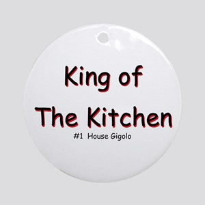 King of The Kitchen Ornament (Round)