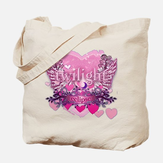 Twilight Eclipse Pink Heart Tote Bag