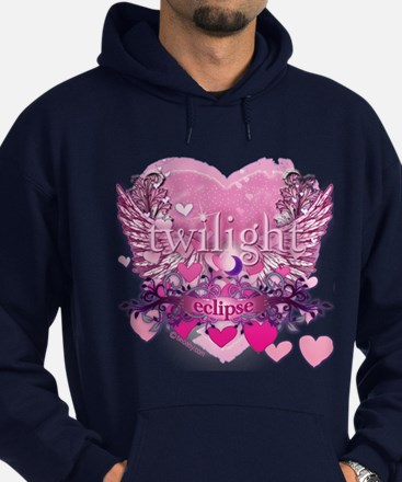 Twilight Eclipse Pink Heart Hoodie (dark)