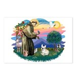 St Francis #2/ Fr Bulldog (f) Postcards (Package o