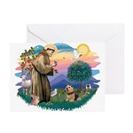 St Francis #2 / Norwich T. Greeting Cards (Pk of 2