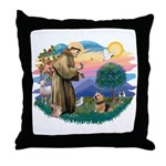 St Francis #2 / Norwich T. Throw Pillow