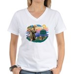 St Francis #2 / Norwich T. Women's V-Neck T-Shirt