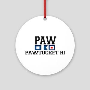 Pawtucket RI - Nautical Design Ornament (Round)