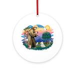 St Francis #2 / Maltese (#7) Ornament (Round)