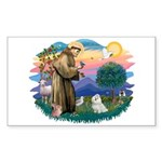 St Francis #2 / Maltese (#7) Sticker (Rectangle)