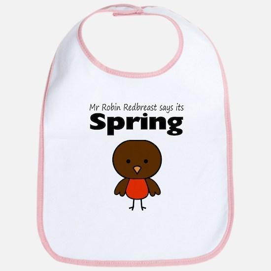 Robin Redbreast Spring Bib
