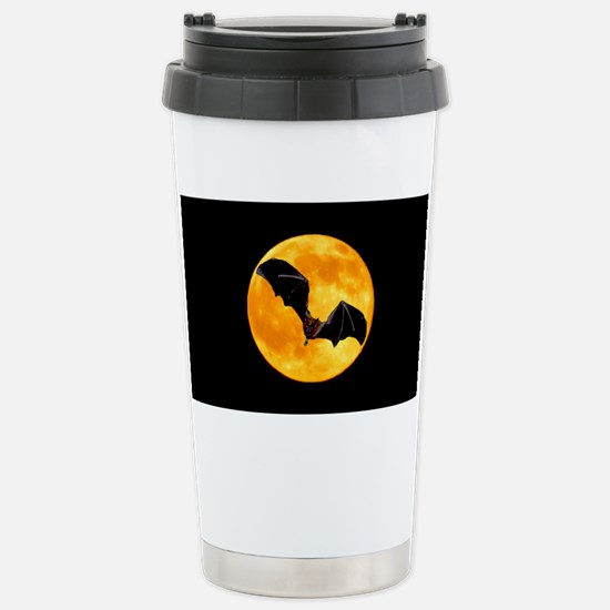 BLACK BAT SILHOUETTE Stainless Steel Travel Mug
