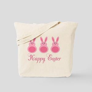 Pink Happy Easter Tote Bag