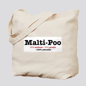 Malti-Poo - Designer Dog Tote Bag
