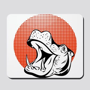 Happy Hippo Mousepad