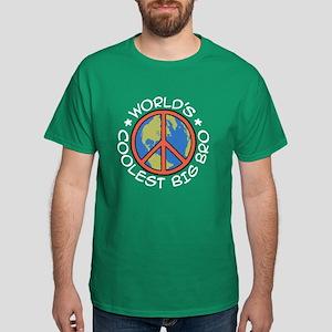 World's Coolest Big Bro Dark T-Shirt
