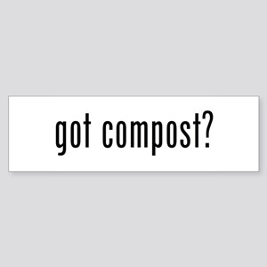 got compost Sticker (Bumper)