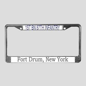 1st Bn 87th Inf Reg License Plate Frame