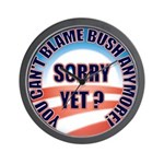Sorry Yet? Wall Clock