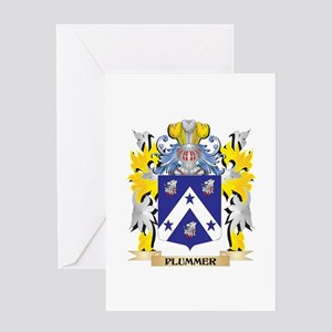 Plummer Family Crest - Coat of Arms Greeting Cards