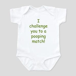 Pooping Match Challenge funny Infant Bodysuit