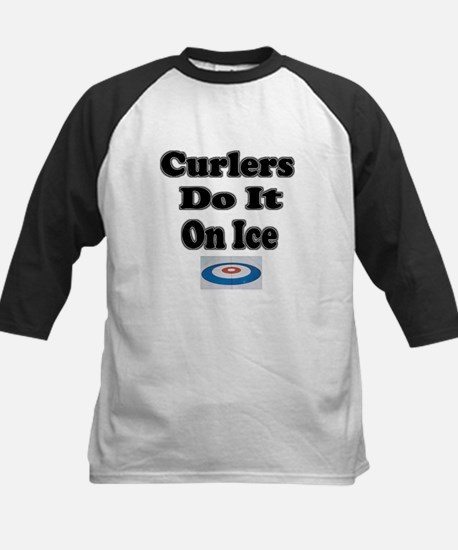 Curlers Do It On Ice Kids Baseball Jersey
