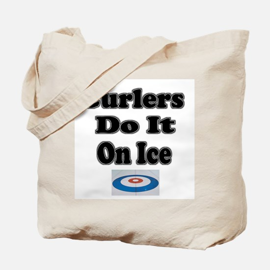 Curlers Do It On Ice Tote Bag
